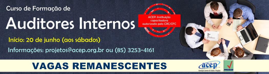 CURSOS DE FORMAÇÃO DE AUDITORES INTERNOS